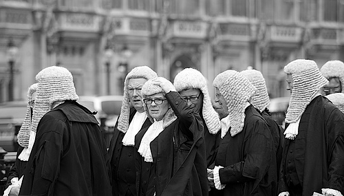 It's not just old men in wigs that judge you. Photo courtesy Steve Punter at Flickr