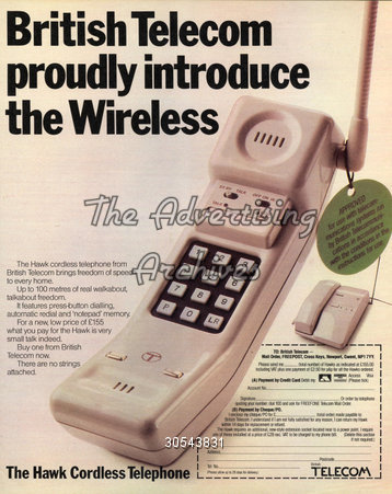 Hi-tech consumer products from BT, 1980s style
