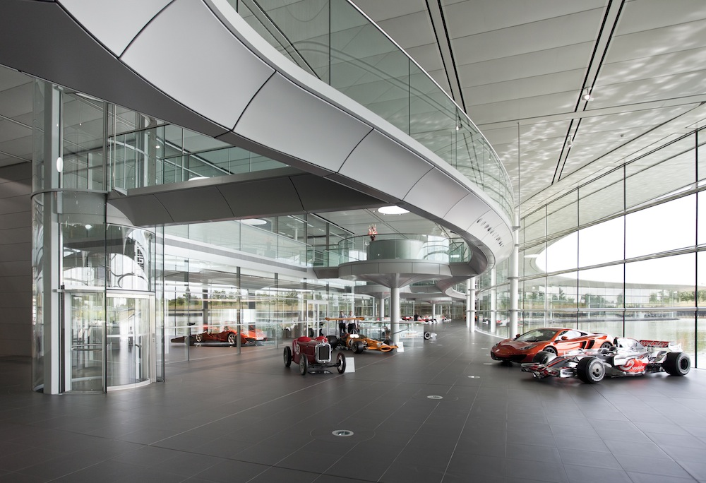 Alpha's products were used on the McLaren F1 racing team HQ in Surrey, England, designed by architects Foster & Partners