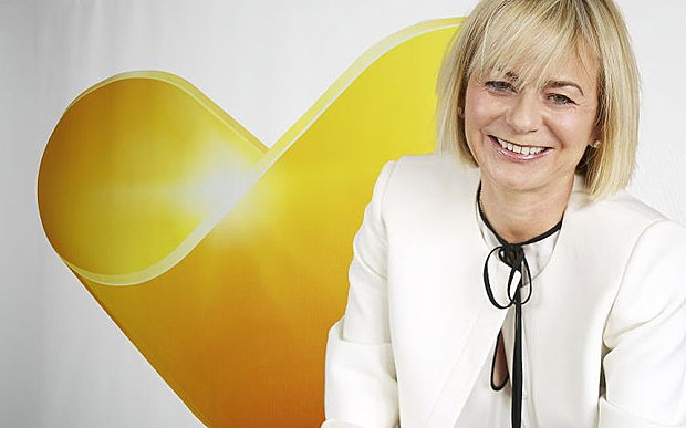 Harriet Green and the new Thomas Cook logo
